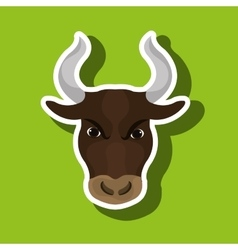 bull head design vector image