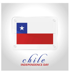Chile flag door plate with independence day vector