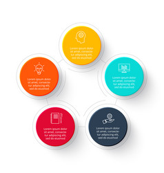 Circle infographic with 5 options steps or vector