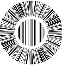 circular bar code vector image