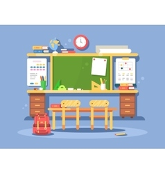 Classroom interior design vector