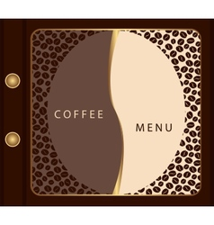 Coffee menu template vector