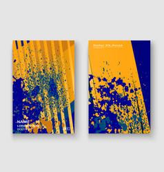 creative cover frame design paint splatter neon vector image