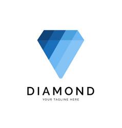 diamond logo concept creative minimal design vector image