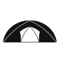 dome tent for camping icon simple style vector image