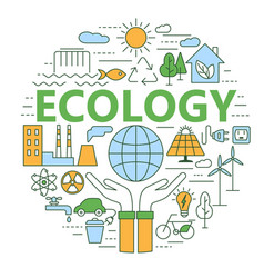 ecology and environment concept vector image