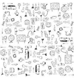 Education tools doodles vector image