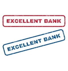 Excellent bank rubber stamps vector