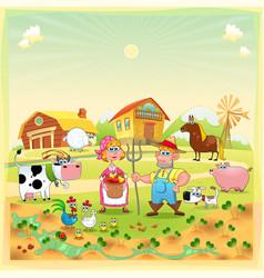 Farm Family vector image