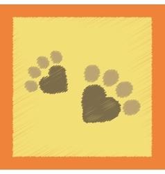 Flat shading style icon cat tracks vector