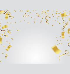 Golden serpentine isolated with transparency vector