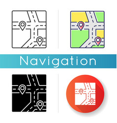 gps map icon vector image
