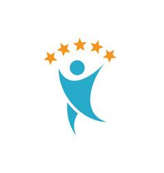 Healthy life people logo design vector