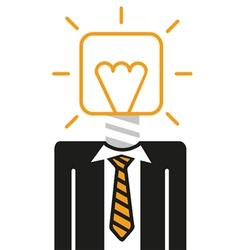 Idea bulb head vector