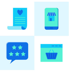 Internet commerce icon set in flat style vector
