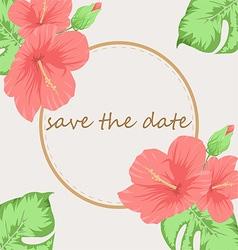 Invitation or wedding card vector image