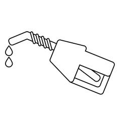 Isolated gasoline pump design vector