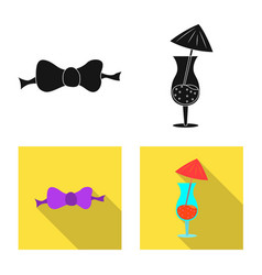 Isolated object of party and birthday sign vector