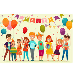 Kids party composition vector