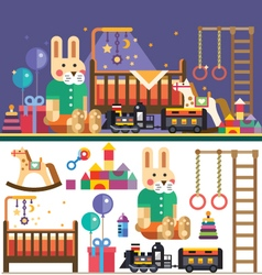 Kids room interior vector