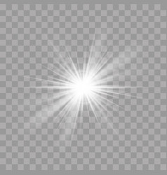 light rays flash sun star shine radiance effect vector image