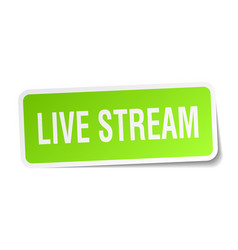 Live stream square sticker on white vector