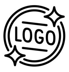 Logo emblem icon outline style vector