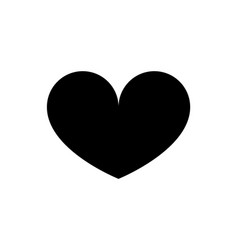 love heart icon black silhouette isolated vector image