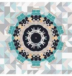 Mandala like frame vector image