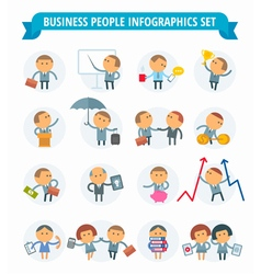 men business icons vector image