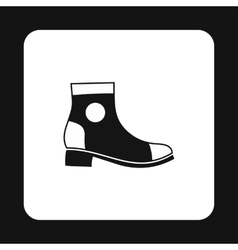 Mens boot icon simple style vector