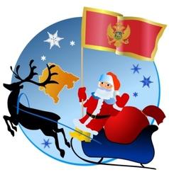 Merry Christmas Montenegro vector image