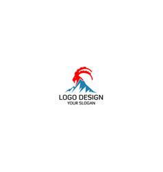 mountain goat logo design vector image