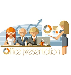 Office Presentation vector image