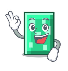 Okay rectangle character cartoon style vector