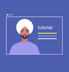 online video tutorial cover image a portrait of vector image