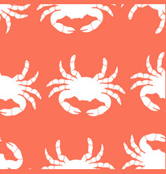 Pattern with crabs vector