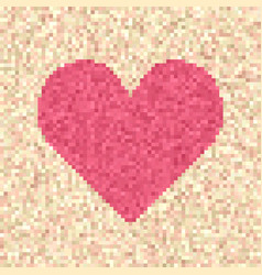 pixelated heart vector image