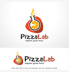 Pizza lab logo template design emblem design vector