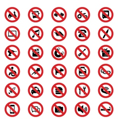 Prohibited sign vector