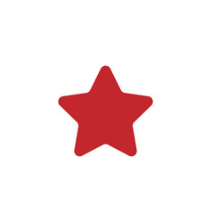 red star icon image vector image