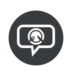 Round tableware dialog icon vector