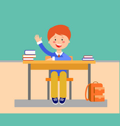School lesson flat vector