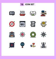 Set 16 modern ui icons symbols signs for coder vector