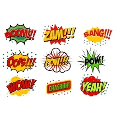 Set of comic style sound effects vector
