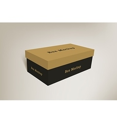 Shoes product packaging mock-up box 2 vector image