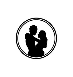 Silhouettes loving men and women vector