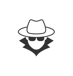 Spy agent anonymous symbol icon eps 10 vector