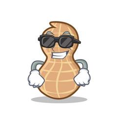 Super cool peanut character cartoon style vector