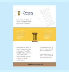 Template layout for piller comany profile annual vector